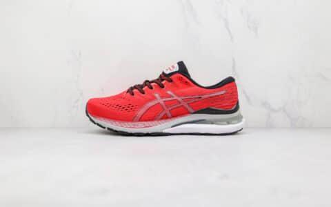 亚瑟士ASICS GEL-KAYANO 28纯原版本黑红色K28缓震慢跑鞋原盒原标 货号:1011B189-600