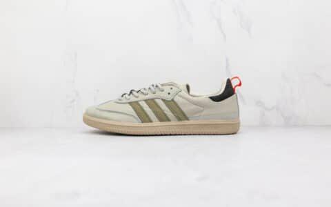 阿迪达斯Adidas Samba OG纯原版本桑巴灰色反毛皮板鞋原楦头纸板打造 货号:EE6664