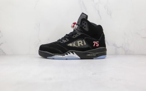 乔丹Air Jordan 5 SE Psg 2.0纯原版本黑色AJ5巴黎75标志篮球鞋原鞋开模一比一打造 货号:AV9175-001