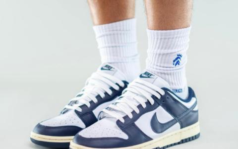 全新Nike Dunk海军蓝上脚图曝光!复古简约!